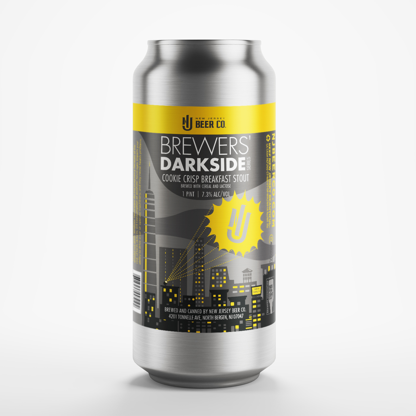 Image result for new jersey BEER CO. DARKSIDE cookie crisp breakfast stout LABEL